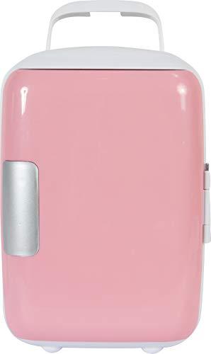 Peach Beauty Mini Kühlschrank 4 Liter, Kosmetik, Makeup Kühlschränke, Beauty, Kompakt, Tragbar und Leise, AC + Gleichstrom Kompatibilität für Haus, Zimmer, Auto, Rosa