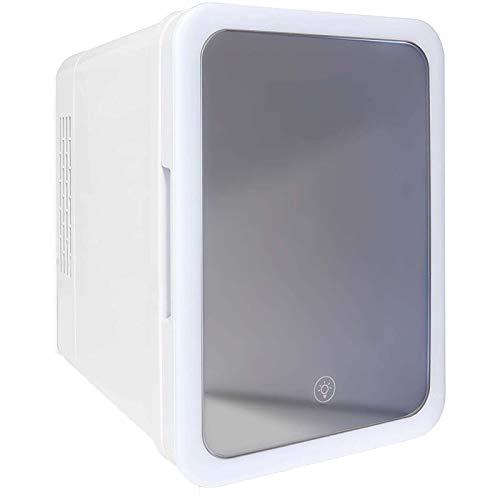 Beauty Mini-Kühlschrank, 4 Liter Tragbarer Kosmetikkühlschrank,Mit Abnehmbaren Regalen Und Touchscreen-Spiegel Mit Leichtem Kühler Und Aufbewahrung, Für Hautpflege, Schlafzimmer Und Reisen