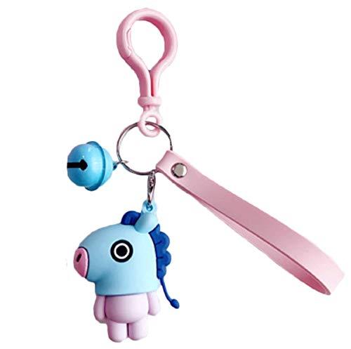 Wide.ling BT21 Offizielle BTS-Merchandise mit Linie Freunde - Charakter-Puppe-Schlüsselanhänger Nette Handtaschen Zubehör (entworfen von Bangtan Boys) Klein Shooky (Mang)