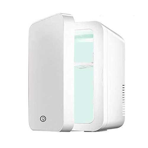 Kosmetikkühlschrank Desktop Mini Kosmetikkühlschrank Haushaltsschlafsaal klein 8 Liter Kosmetikspiegel Kleiner Kühlschrank Schönheits- und Hautpflege Auto nach Hause Dual-Use