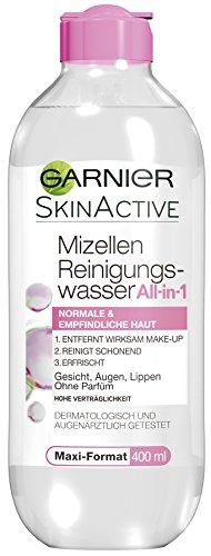 Garnier Mizellen Reinigungswasser / Gesichtsreinigung für normale und empfindliche Haut (Optimale Verträglichkeit - ohne Parfüm) 6er Pack - 400 ml