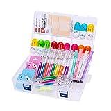 34 Stück süße Schulmaterial Set, Spritzenmarkierer und Pflege Nadelstifte, Vitamin Pille Stifte Coole Geschenke für Krankenschwester Student
