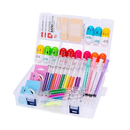 IMTTST&R 34 Stück süße Schulmaterial Set, Spritzenmarkierer und Pflege Nadelstifte, Vitamin Pille Stifte Krankenschwester Student