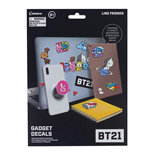 Paladone Products BT21 Gadget Decals Iconic Characters Album Aufkleber, Verschieden