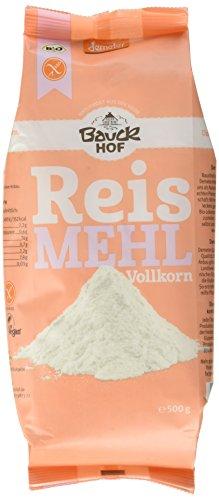 Bauckhof Reismehl Vollkorn 500 g Demeter gf, 3er Pack (3 x 500 g)