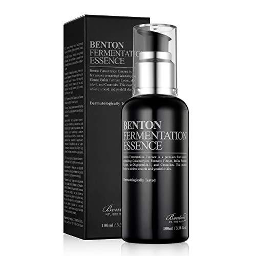 BENTON Fermentation Essence 100ml (3.38 fl.oz.) - Galactomyces Ferment Filtrat & Bifida Skin Fiirming & Vitalizing Essence, Anti-Falten, feuchtigkeitsspendend, für stumpfe und trockene Haut
