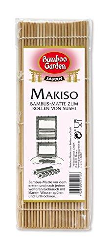 Bamboo Garden Makisu - Bambusmatte zum Rollen von Sushi Sushimatte, Sushi-Roller, Former zum asiatisch Kochen, Menge: 3 Stück