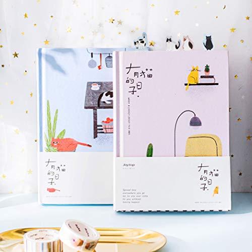 Ruluti 4PCS Korean Kawaii Nette Katze Home Tagesplan Personal-Planer-Organisator Notebook Agenda Planbook A5 Am Besten FüR Studenten Geschenk