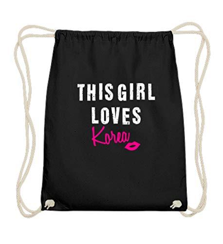 Kleidungskulisse This Girl Loves Korea Kpop Koreanische Musik Pop Hangul Koreareise Geschenkidee Südkorea - Baumwoll Gymsac