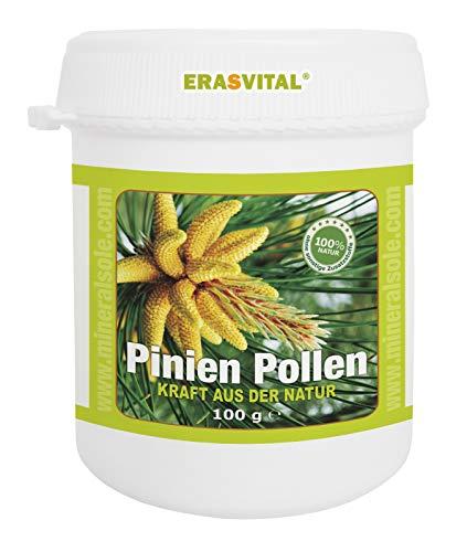Pinien Pollen 100g in einer Plastikdose Wildsammlung 99% Zellwandgebrochen in deutschem Labor auf Schadstoffe geprüft.