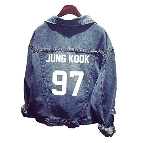SERAPHY Unisex Jeansjacke für Army KPOP Hoodies Kapuzenpullover Suga Jin Jimin Jung Kook J-Hope Rap-Monster V 97 Jungkook