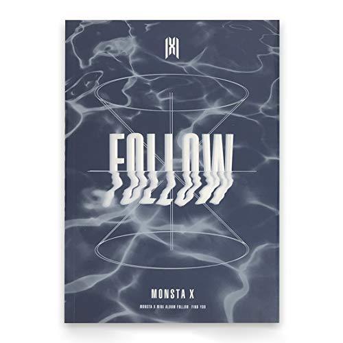 MONSTA X 7th Mini Album - FOLLOW-FIND YOU [ I ver. ] CD + Photobook + Mini Poster + Lyrics + Photocard + Photostand + FREE GIFT / K-pop Sealed