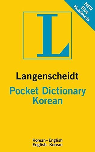 Langenscheidt Pocket Dictionary Korean (Langenscheidt Pocket Dictionaries) by Langenscheidt (2011-04-01)