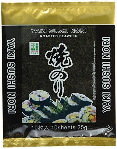 Jhfoods Seetang geröstete Qualität gold 25g, 15er Pack (15 x 25 g)
