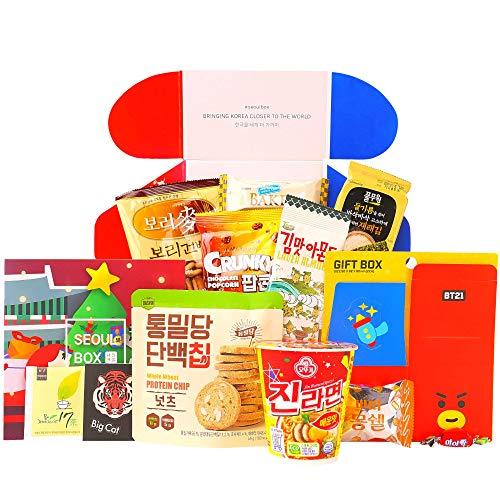 Deluxe SeoulBox | Authentic Korean Snacks and Epic Kpop Merchandise Gift Box