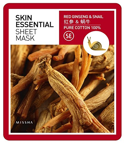 MISSHA - Skin Essential Sheet Mask Ginseng & Snail gesichtsmaske Korean Kosmetik