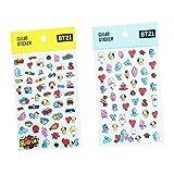 AMA-StarUK36 Kpop BTS-Aufkleber PVC-Aufkleber-Karikatur-Aufkleber-gesetztes Geschenk für A.R.M.Y bekannt gegeben auf Ventilator-Produkten( 2PCS)