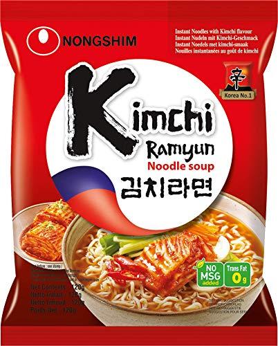 Nong Shim Instantnudeln Kimchi Ramyun – Koreanische Ramen Suppe - schnelle Zubereitung – 20er Vorteilspack à 120g