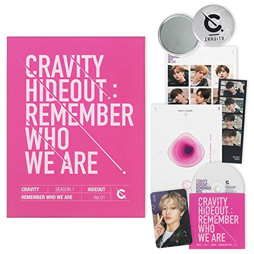 CRAVITY Season1. Album - HIDEOUT : Remember Who We Are [ Ver. 1 ] CD + Photobook + Photo Cards + Sticker + FREE GIFT / K-POP Sealed