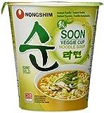 Nong Shim Instantnudeln Soon Veggie Ramyun / Koreanische Gemüse Cup Suppe mild (schnelle Zubereitung)