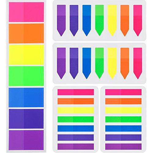 700 Stück Flaggen Index Tabs 3 Größen Haftnotizen Beschreibbare Etiketten Seite Marker Lesezeichen Text Textmarker Strips, 7 Farben, 5 Set