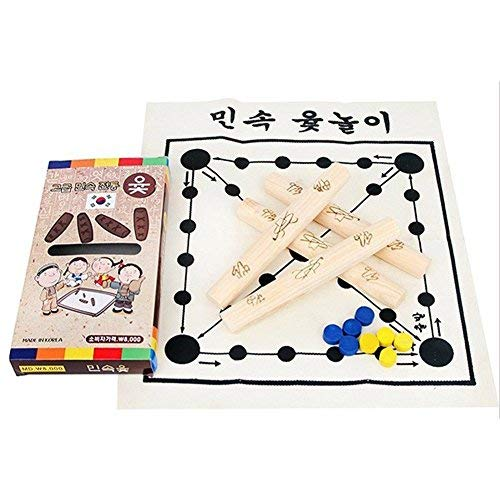 Korean Board Game Yut Nori Yut Game Yoot Game Yutnori Set by Elixir Toy