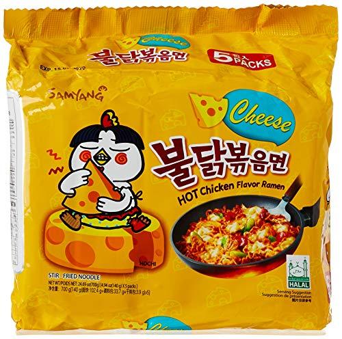 Samyang Hot Chicken Flavor Ramen Nudeln Cheese Käse 700g scharf