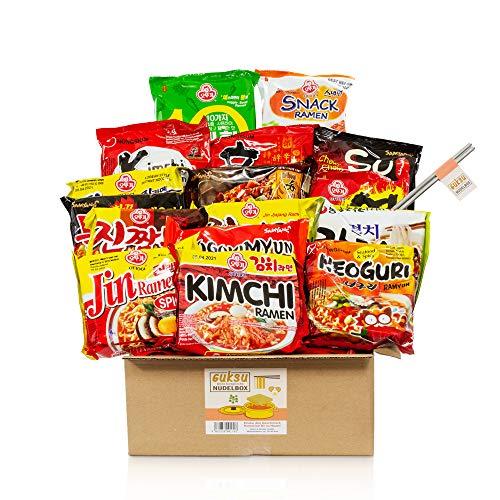 Guksu-Box mit 16 koreanischen Ramen - Ausgewählter Mix aus vielseitigen Geschmacksrichtungen - Korea Instant-Nudeln Geschenkbox