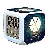 R-timer New Anime Korean EXO Alarm Clock LED Light Nightlight Accessories for Teenager E#
