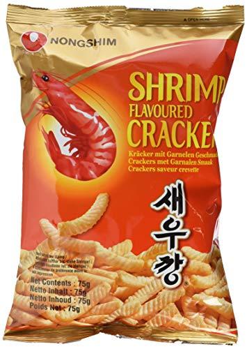 Nong Shim Shrimp Cracker – Knusprige Krabbencracker - koreanische Knabberei für jeden Tag – 1 x 75g