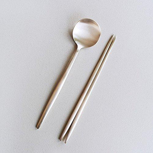 Notdam Premium Messing Chopstick, wiederverwendbarer, Bangjja (Legierung aus Kupfer und Zinn) 1 Paar (8,4 Inch)
