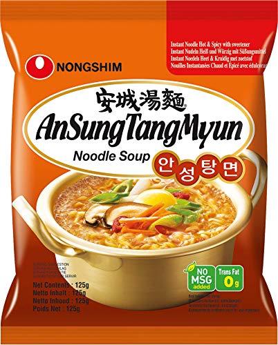 Nong Shim Instantnudeln Ansong Tangmyon – Koreanische Ramen Suppe - schnelle Zubereitung – 20er Vorteilspack à 125g