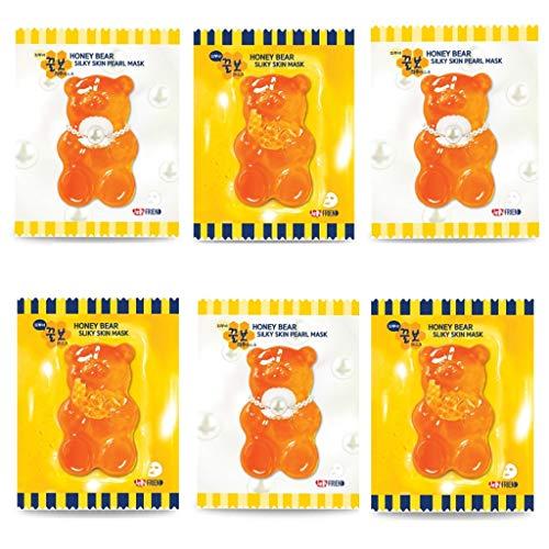 jellyFRIEN Tägliche Maske aus seidiger Honigbärenhaut. 6 Stück