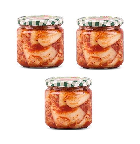 3 x 300g Frischer Kimchi im Glas aus Deutschland - Pamai Pai® - frisch eingelegter Chinakohl Kim Chi