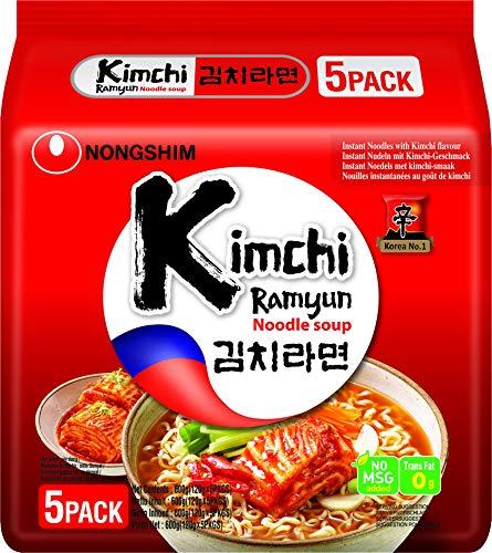 NONGSHIM Instantnudeln, Kimchi Ramyun Suppe , 2er Pack ( 2 x 5er Vorteilspack )