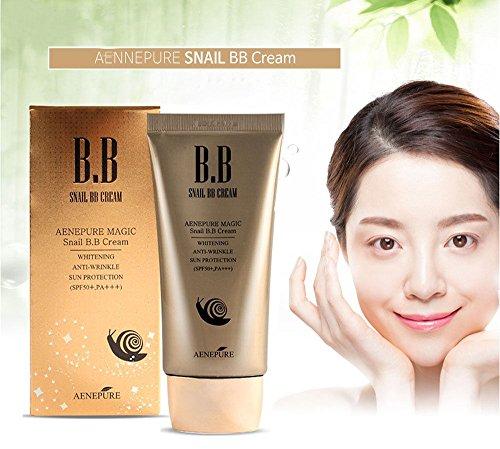 Aenepure Snail Bb Cream Spf50+, Pa +++ / Whitening, Anti-Wrinkle, Sun Protection / Korean Cosmetics