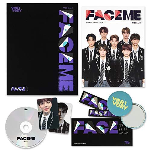 VERYVERY 3rd Mini Album - FACE ME [ OFFICIAL ver. ] CD + Photobook + Lenticular Photocard + Photocard + FREE GIFT / K-POP Sealed