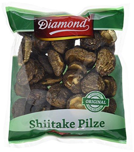 Diamond Shiitake / Tonko Pilze, getrocknet, 100g, 2er Pack (2 x 100 g Packung)