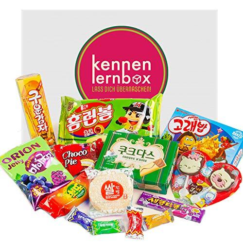 Süßigkeiten Box aus Korea | Kennenlernbox mit 14 beliebten Süßigkeiten aus KOREA | Geschenkidee für Weihnachten und Geburtstage