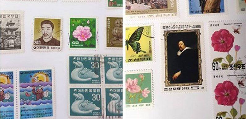 Briefmarken aus Korea – Unterschiede zwischen Nord und Süd