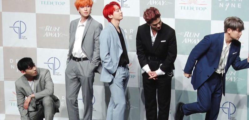 Teen Top setzen Geburtstagsfeier bei Music Bank fort