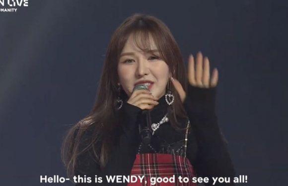 Wendy stand nach einem Jahr wieder mit Red Velvet auf der Bühne