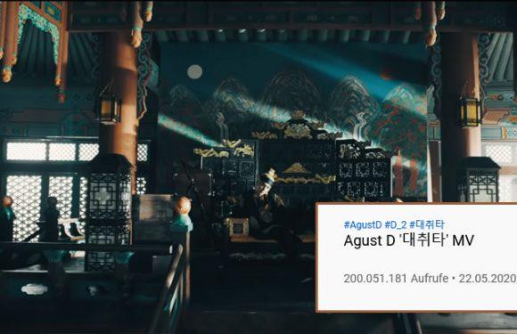 Daechwita von Agust D hat 200 Mio. Views geknackt