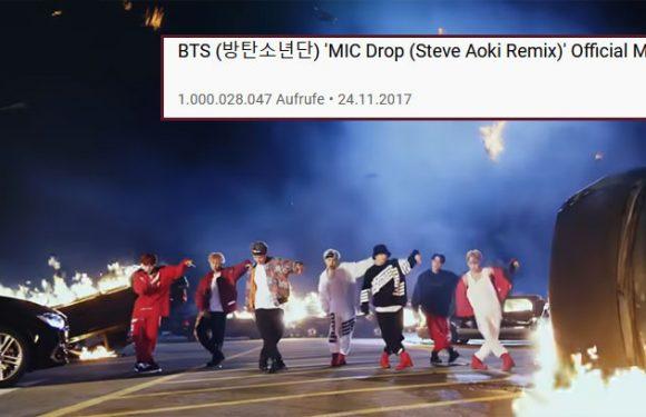 """BTS' Musikvideo zu """"Mic Drop"""" hat 1 Mrd. Views erreicht!"""
